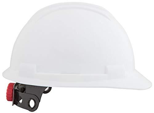 Casco de seguridad SP-300, ajuste potente de la rueda con tornillos, EN397 + A1: 2012, peso ligero, ventilación de aire, forro textil y diadema suave (5, blanco)