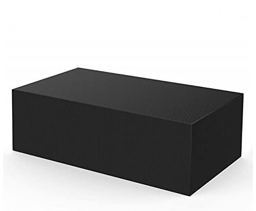 Vzesok Housse de Protection Bâche Housse de Protection Table de Jardin Couverture Jardin pour Meuble Extérieur Rectangulaire 420D Oxford Noir 180 x 110 x 70cm