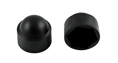 SN-TEC Sechskant Abdeckkappe SKS M6 für SW 10, Kunststoff schwarz (50 Stück)