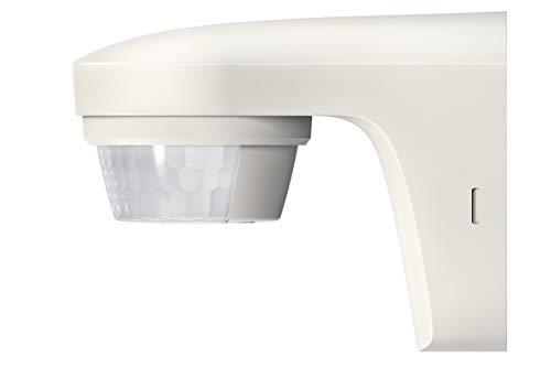 Theben 1010505 theLuxa S180 WH Bewegungsmelder mit 180° Erfassungswinkel für den Außenbereich, Bewegungssensor, weiß