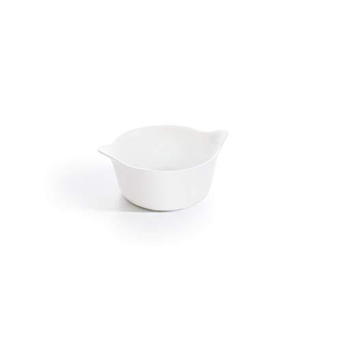 Luminarc - Ramequin rond Blanc Smart Cuisine Carine 250°C - Verre Innovant - Léger et Extra-Résistant - Nettoyage Facile - Fabrication en France - Dimensions 11 cm