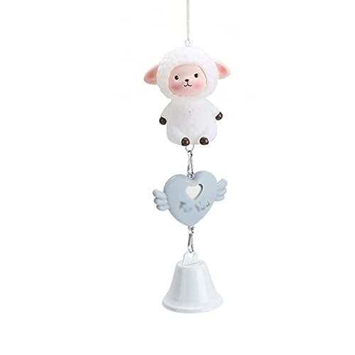 ZHOUJ Carillones de Viento de aromaterapia, Caricatura Creativa Colgante de Animales Lindos Adornos de decoración del hogar para Amigos y Novias Regalos (Color: Gris)