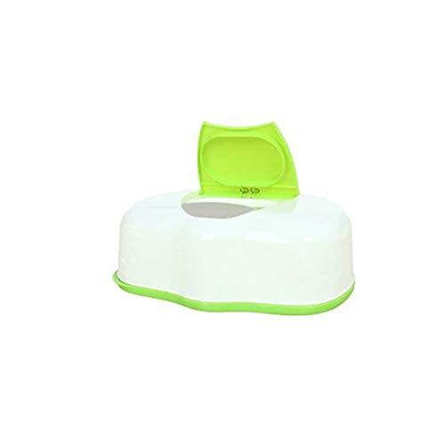 OUNONA TOPBATHY Feuchtt¨¹cherbox Kunststoff Feuchtt¨¹Cher Aufbewahrungsbox Tissue Box Kosmetikt¨¹cherbox Taschentuchspender (Gr¨¹n)