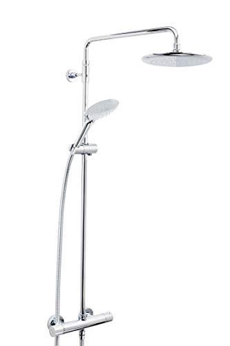 Bristan Quadrato QD SHXDIVFF C duschset, med regndusch/omkopplare/duschstång