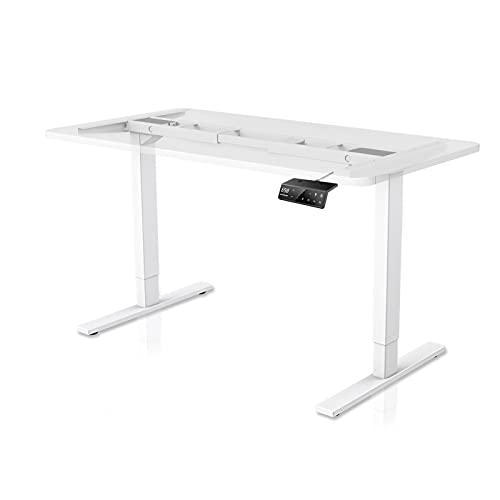 Mesa de pie doble ajustable MAIDeSITe, con 4 teclados inteligentes de memoria automática, 2 estaciones de pie de pie de acero inoxidable 30 '-48' H marco eléctrico solo
