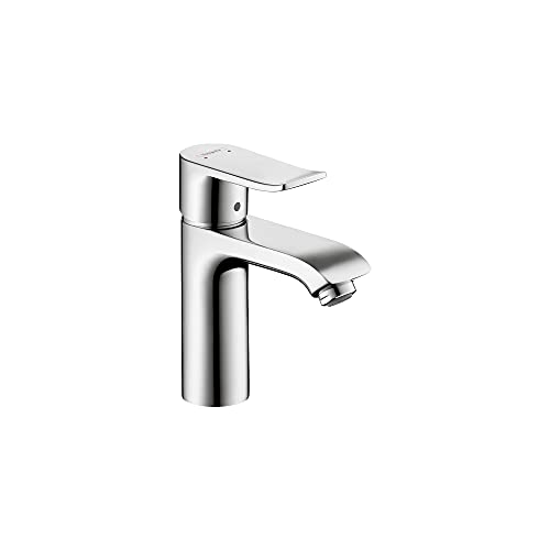 hansgrohe Metris Modern Timeless Easy Clean 1-Handle 1 7-inch Tall Bathroom Sink Faucet in Chrome, 31204001
