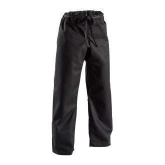 Playwell Karaté Lourd Toile Pantalons Noirs 396gr - Taille Élastique - 5/180CM