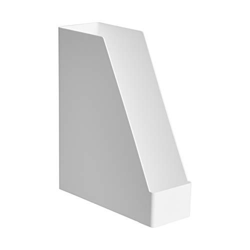 Amazon Basics Organizador de plástico, revistero, blanco, paquete de 1