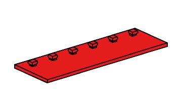 fischertechnik ® - 10 x - Bauplatte - Zubehör - 30 x 90-38251 - rot - teils bedruckt