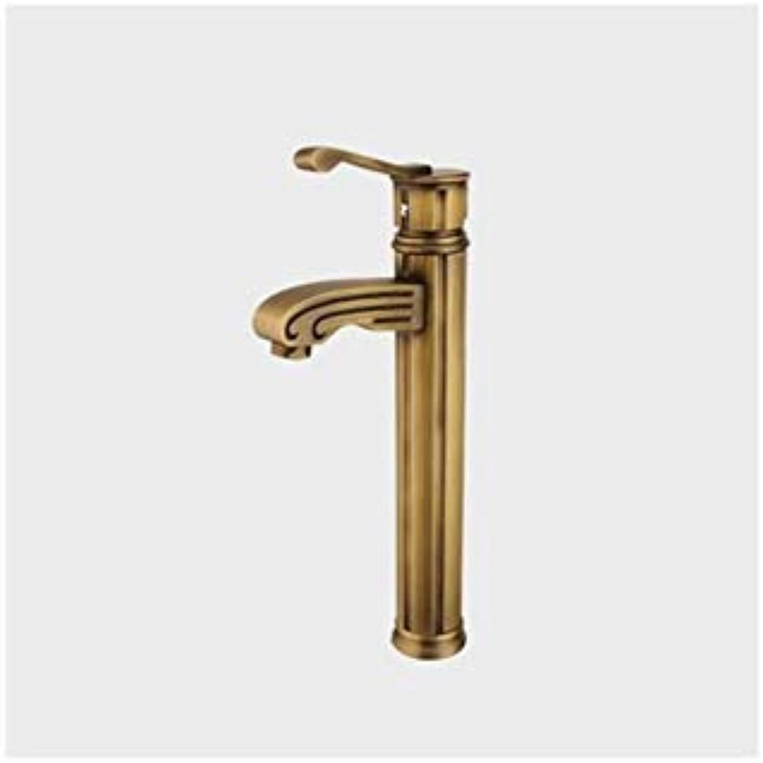 Taps Kitchen Sinkfaucet Creativity Pure Copper Hot and Cold Above Counter Basin Art Basin Vintage Faucet Tap Upscale golden