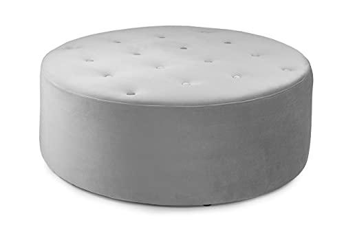 Honeypot - Sofa - Belfast - Fullback - 4 Seater - 3 Seater - 2 Seater - Armchair - Swivel Chair - Corner Sofa - Footstool - Plush Grey - Beige (Footstool, Plush Grey)