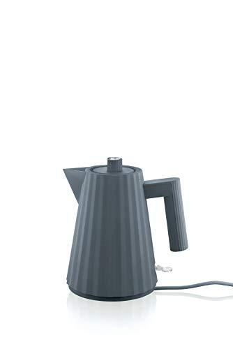 Alessi Plissè MDL06/1 G - Design Elektrischer Wasserkocher aus Thermoplastischem Harz, 100 cl, Grau