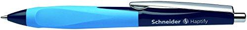 Schneider Haptify Ergonomic Ballpoint Pen, Dark Blue & Light Blue