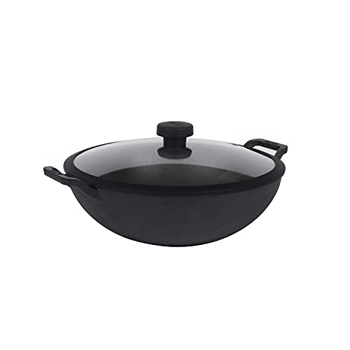 Meyer Pre Seasoned Cast Iron 20cm Deep Kadai