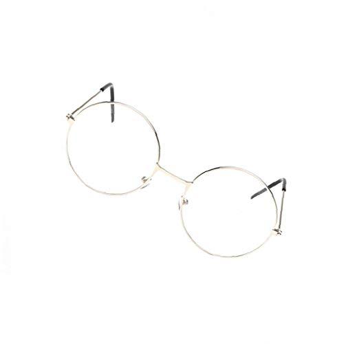 Marco Unisex Gafas Redondas De Metal De La Vendimia Gafas Retro Claro Eyewears Lente