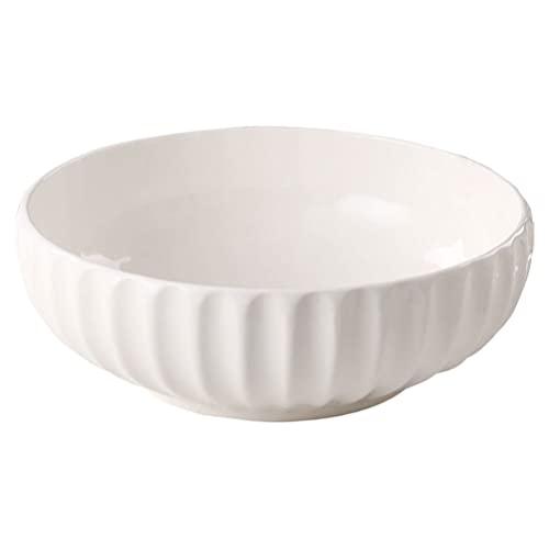 Tomaibaby Porcelain Soup Bowl Large Bowl Ramen Noodle Udon Pasta Soup Donburi Salad Fruit Bowl Food Serving Bowl 10inch