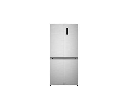 UNIVERSALBLUE | Frigorífico Americano 4 Puertas Inox | No Frost | Eficiencia Energética A+ | Capacidad Total 482L | Congelador | Sistema Silencioso