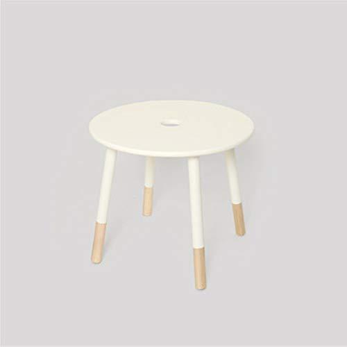 Kangjiabaoobao Houten multifunctioneel speeltafel voor kinderen, ronde tafeltjes, braden, geen schade aan de vloer, wit, kindermeubelset