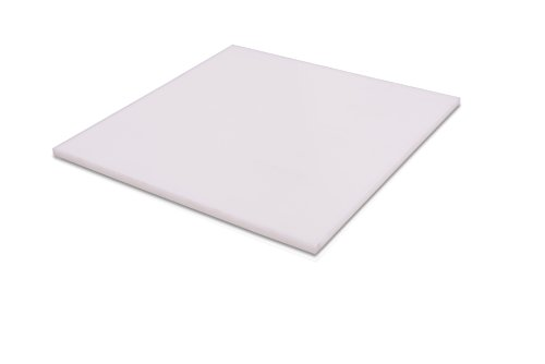 "HDPE (High Density Polyethylene) Plastic Sheet 3/8"" x 5"" x 12"" Natural"