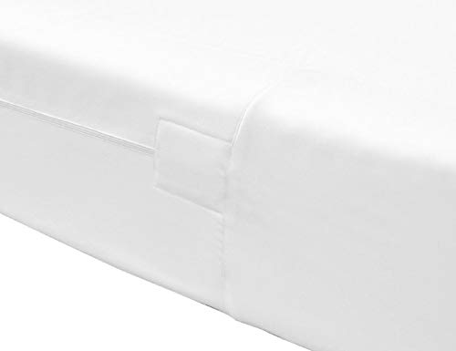 The House of Emily Fully Enclosed Encased Waterproof Mattress Encasement Protector Cover 12' Deep Zip Closure Single