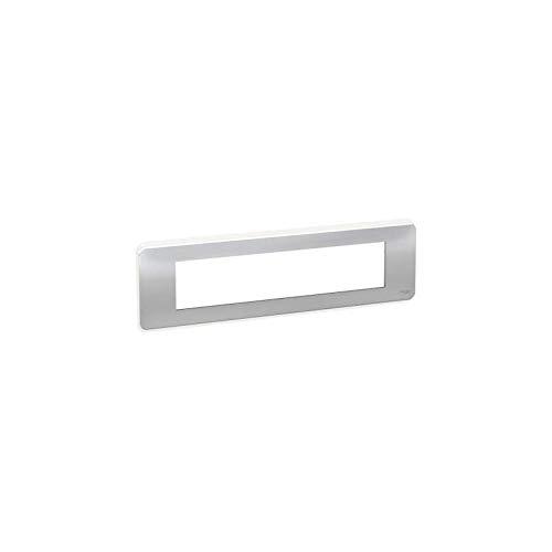 Unica Pro - Placa de acabado, aluminio - 10 módulos