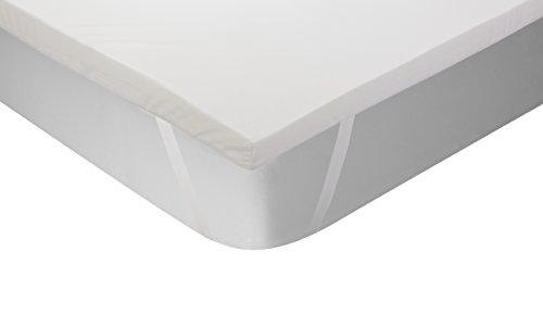 Classic Blanc - Surmatelas en mousse à mémoire Thermorégulateur, épaisseur 5cm. 105x200 cm-Lit 105