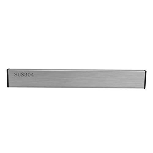 Hemoton Magnet knivhållare rostfritt stål kniv bar kniv förvaringshylla kök vägghängande redskapshållare för hemrestaurang (50 cm)