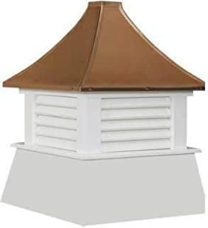"""Cupola 16"""" Vinyl Cupola with Vents Copper Metal Pagoda Roof Shed Cupola"""