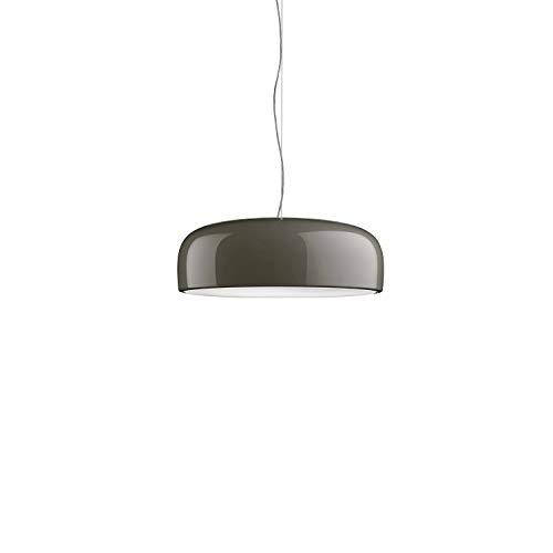 Lámpara de suspensión de luz directa modelo Smithfield, difusor moldeado por inyección de metacrilato, cable de 2,7 metros, 60 x 60 x 21,5 centímetros, color marrón barro (referencia: F1360021