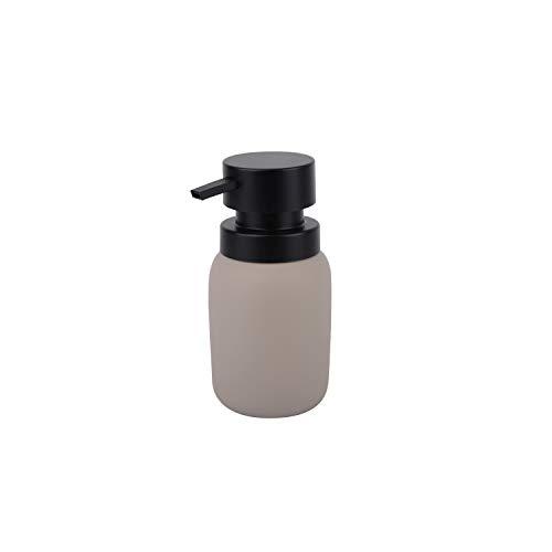 KOOK TIME - Collection Bain Pump Distributeur Gel ou Savon - Résine / ABS - Gris Clair / Noir Mat ... (Doseur Pump - Gris Clair)