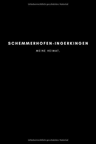 Schemmerhofen-Ingerkingen: Notizbuch, Notizblock, Notebook | Punktraster, Punktiert, Dotted | 120 Seiten, DIN A5...