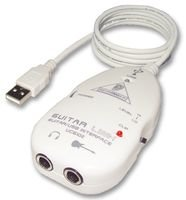 Behringer Guitar Link - Interfaz USB para guitarra eléctrica, color blanco
