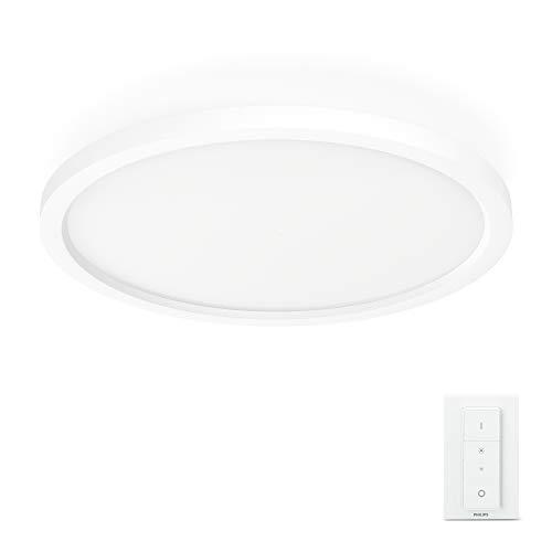 Philips Hue White Ambiance AURELLE Panneau LED Ø 39.5 cm 28 W - Blanc (télécommande incluse)