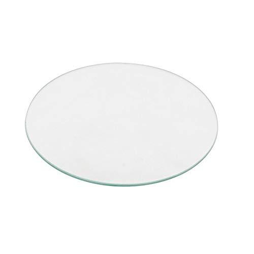 Manmanyu 220 millimetri rotonda borosilicato/alta lastra di vetro temperato, 3mm di spessore stampante for DIY 3D delta .Accessori per stampante (Size : Borosilicate glass)