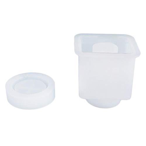 ZQO - Molde de Silicona para Botella de Sellado de Botellas de plástico epoxi con Tapa y Molde de Resina epoxi para contenedor de Dulces y macetas de Flores