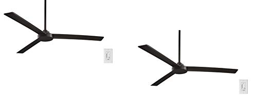Minka-Aire F624-CL Roto XL 3-Blade Ceiling Fan in Coal Finish 2 Pack