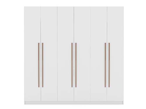 Manhattan Comfort Gramercy Contemporary Modern Freestanding Wardrobe Armoire Closet, 82.48', White