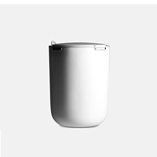 Cubo de Basura Push Push Push PANTÁNICA, Puede DE Almacenamiento DE Almacenamiento DE Almacenamiento, CABATORIO DE Oficina, Baño De Oficina, Baskebasket Simple Y Conveniente Papelera (Color : White)
