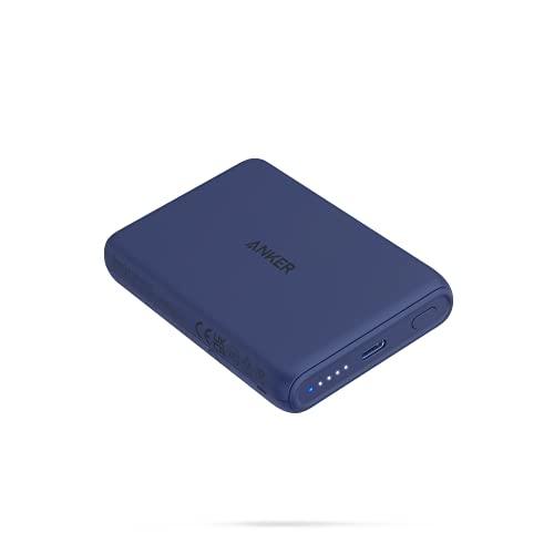 Anker PowerCore Magnetic 5000 (マグネット式ワイヤレス充電機能搭載 5000mAh コンパクト モバイルバッテリー) 【 マグネット式/ワイヤレス出力 (5W) / USB-Cポート出力 (10W) / PSE技術基準適合 】iPhone 13 / 13 Mini / 13 Pro (ネイビー)