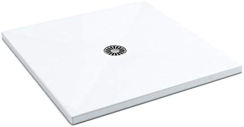 AQUABAD Duschwanne Comfort Lux Flat 100x100cm Quadrat