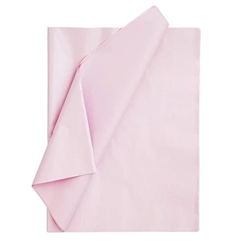 AUOVKOCA Seidenpapier, 100 Blatt Metallisches Hell-Pink Seidenpapier Geschenkpapier für Heimarbeit Bastelarbeit Geschenkverpackung, DIY, 50 x 35 cm