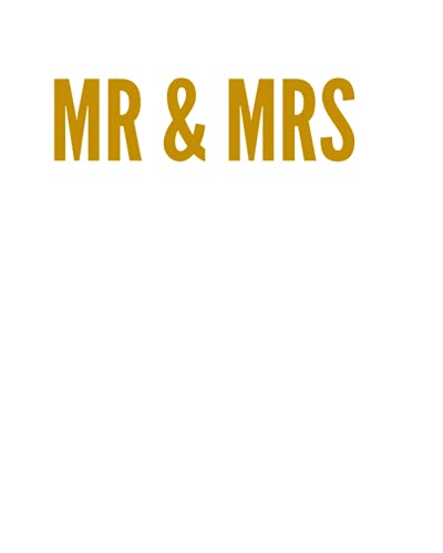 MR & MRS: A Decorative GOLD and WHITE Designer Book For Coffee Table Decor and Shelves   You Can Stylishly Stack Books Together For A Chic Modern ... Stylish Home or Office Interior Design Ideas