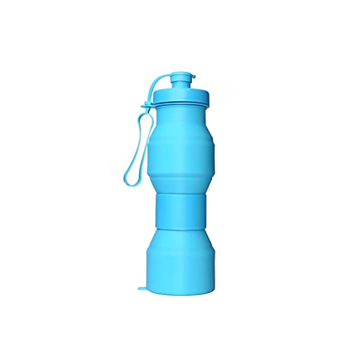 WYDMBH Botella de Agua Plegable 80 0ML Travel Sport Flexible Eco-Friendly Folding Silicone Water Bottles Coche retráctil Botella Plegable de Silicona