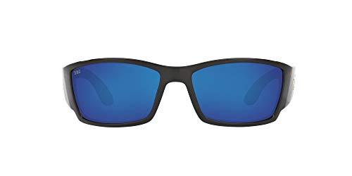 Costa Del Mar Men s Corbina Polarized Rectangular Sunglasses, Tortoise Grey Blue Mirrored Polarized-580G, 62 mm