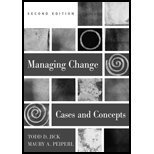 Managing Change: Cases and Concepts 0072887044 Book Cover