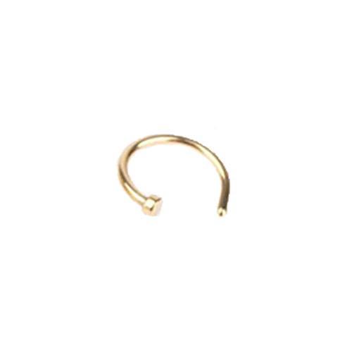 LKSPD QXDZSWB 1 anillo de nariz falsa en forma de U para septum de acero inoxidable, perforación falsa perforación, joyería perforada para niña (color a oro)