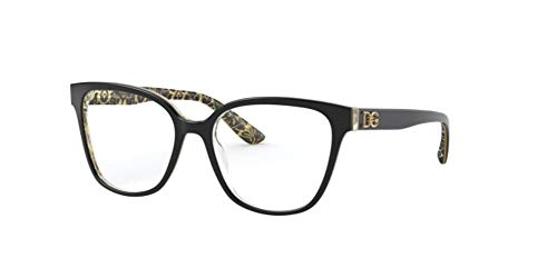 Dolce & Gabbana Brillengestell BLACK ON DAMASCO GLITTER BLACK (3215)