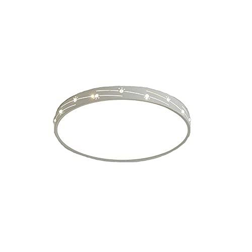 LPFWSK Lámpara de techo redonda de diseño hueco blanco ajustable 3000K-6000K Accesorio de iluminación ultrafino Montaje empotrado Lámparas LED de bajo consumo Lámpara de decoración del hogar de estilo
