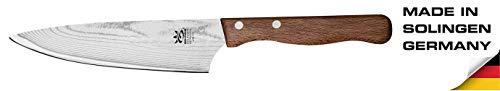 GEHRING Solinger Damastmesser Kochmesser 15 cm Klinge Damaststahlklinge Baumringoptik 65 Lagen Buchenholzgriff