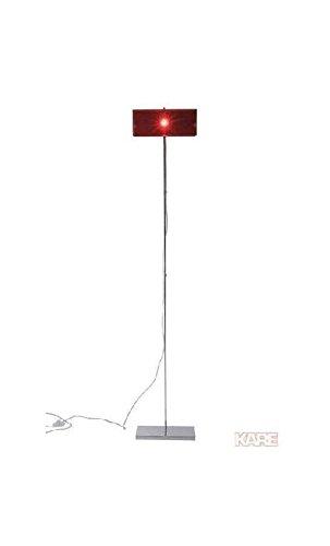 Lámpara de pie de diseño rectangular acrílico rojo